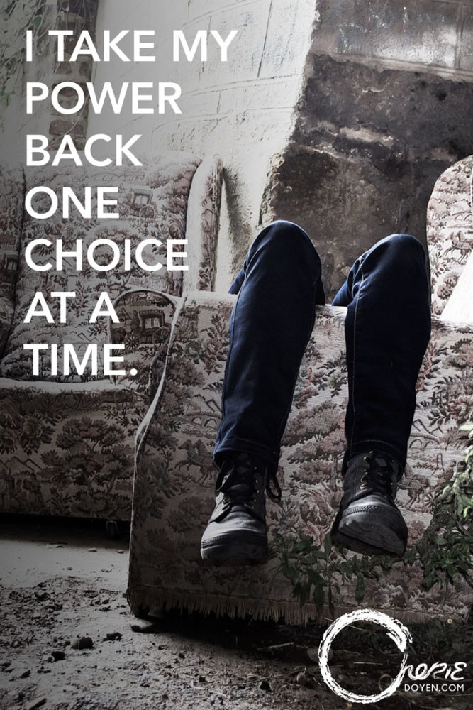 Take Back Our Power One Choice at a Time by Cherie Doyen. Find more at cheriedoyen.com!